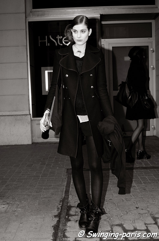 Larissa Hofmann leaving Talbot Runhof show, Paris F/W RtW 2012 Fashion Week, March 2012