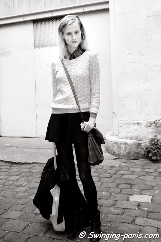Lauren Bigelow outside Pedro Loureno show, Paris S/S 2013 RtW Fashion Week, October 2012