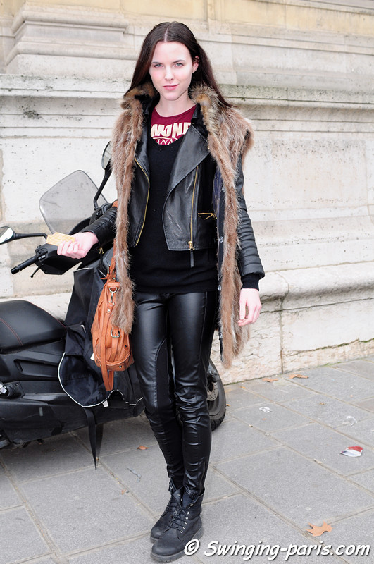 Lauren Buys after Sacai show, Paris F/W RtW 2012 Fashion Week, March 2012
