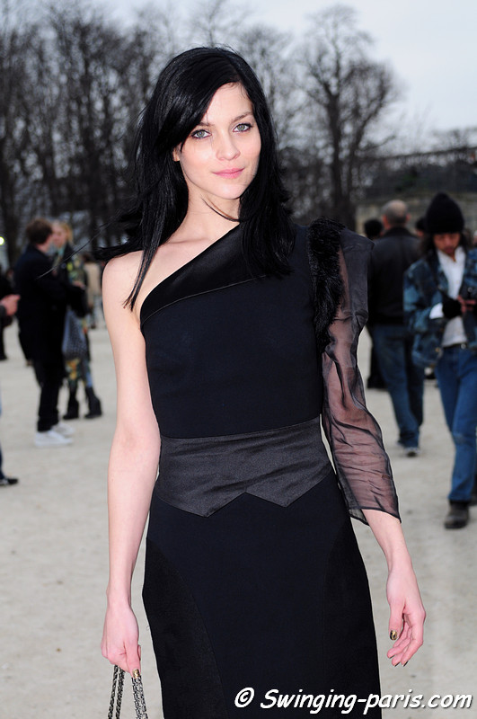 Leigh Lezark outside Viktor & Rolf show, Paris F/W RtW 2012 Fashion Week, March 2012