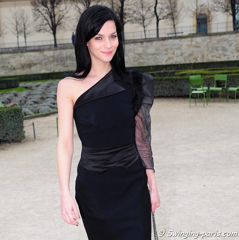 Leigh Lezark outside Viktor & Rolf show, Paris F/W RtW 2012 Fashion Week, March 2012