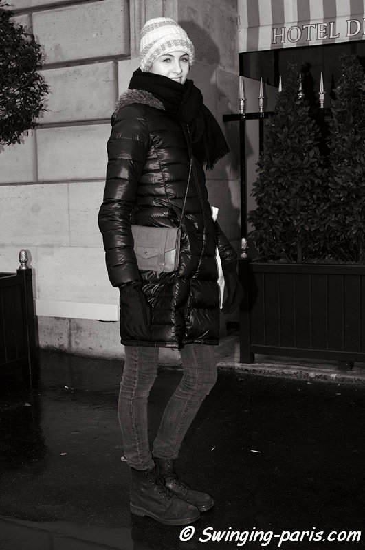 Lida Fox outside Christophe Josse show, Paris Haute Couture S/S 2013 Fashion Week, January 2013