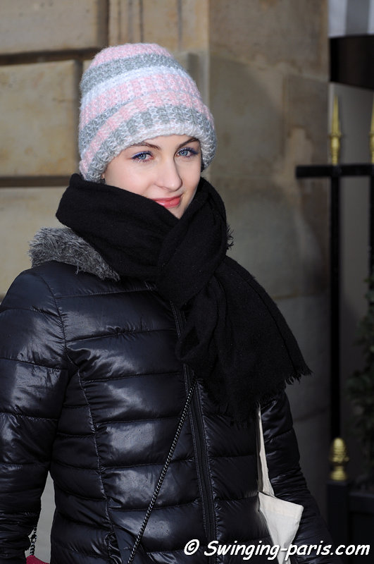 Lida Fox outside Christophe Josse show, Paris Haute Couture S/S 2013 Fashion Week, January 2013