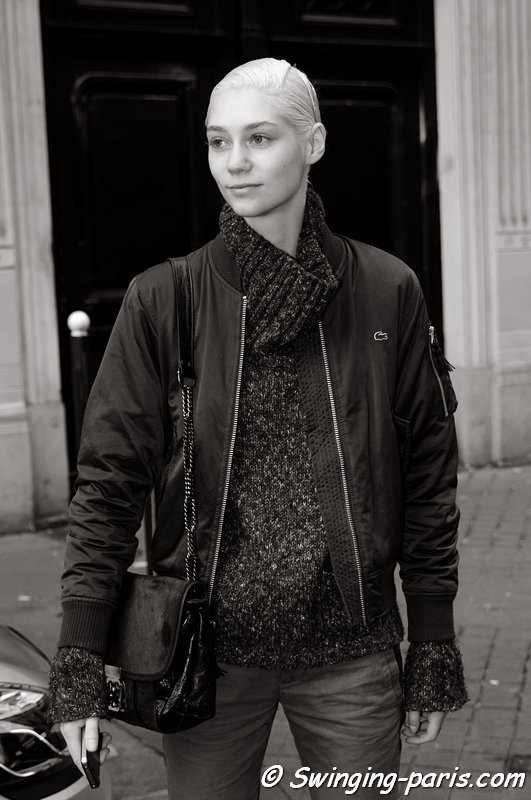 Lida Judickaite outside Maison Martin Margiela show, Paris Haute Couture S/S 2014 Fashion Week, January 2014