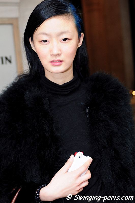 Lili Ji (莉莉纪) outside Tsumori Chisato show, Paris F/W RtW 2012 Fashion Week, March 2012