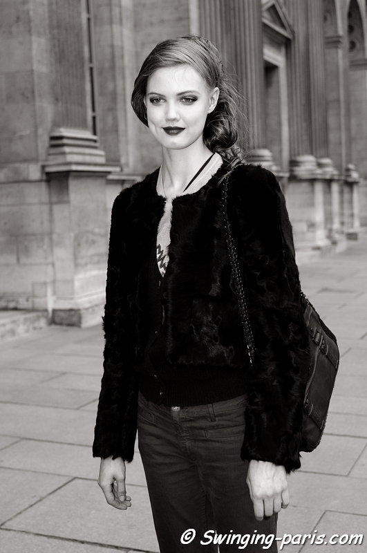 Lindsey Wixson outside Louis Vuitton show, Paris F/W 2013 RtW Fashion Week, March 2013