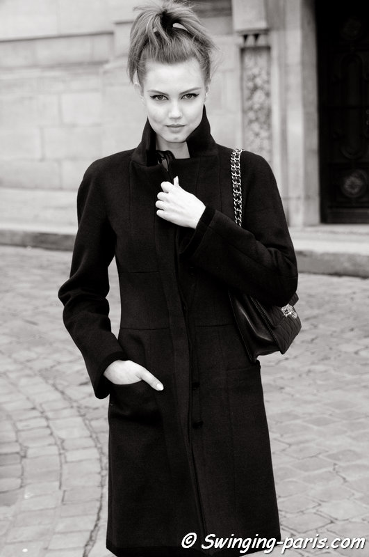 Lindsey Wixson outside Chanel show, Paris Haute Couture S/S 2014 Fashion Week, January 2014