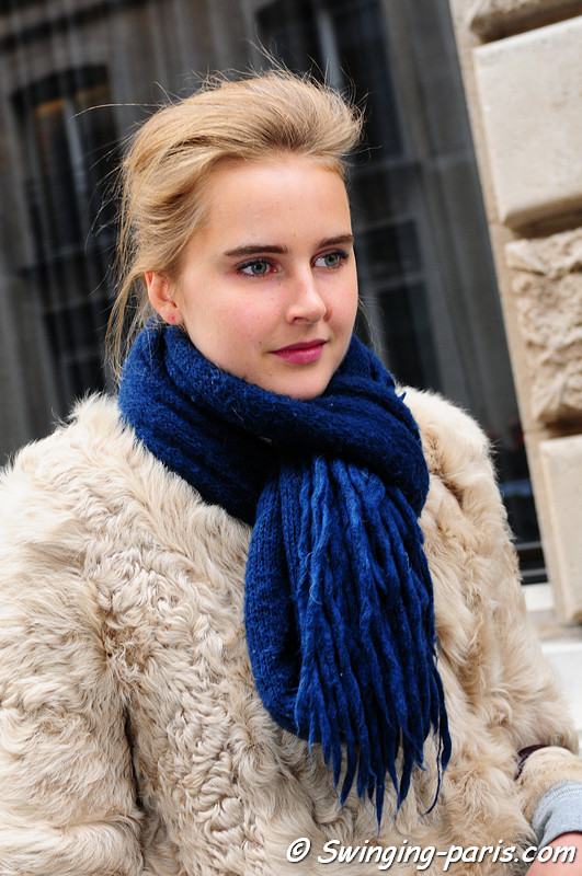 Lisanne De Jong outside Chanel Show, Paris January 2011
