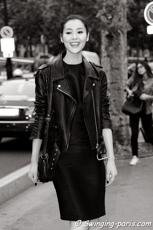 Liu Wen (刘雯 or 劉雯) outside Alexandre Vauthier show, Paris Haute Couture F/W 2013 Fashion Week, July 2013