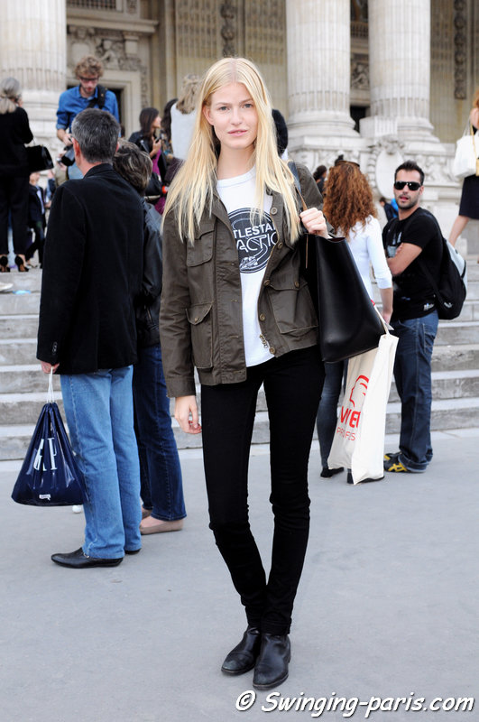 Louise Parker leaving Vanessa Bruno show, Paris S/S 2014 RtW Fashion Week, September 2013