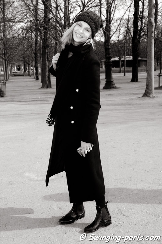 Lys Inger outside Issey Miyake show, Paris F/W 2014 RtW Fashion Week, February 2014