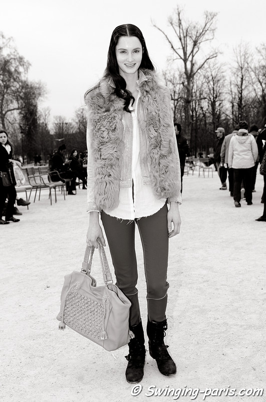 Mackenzie Drazan outside Viktor & Rolf show, Paris F/W RtW 2012 Fashion Week, March 2012