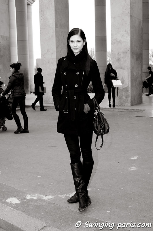 Maria Flávia Ferrari leaving Allude show, Paris F/W 2013 RtW Fashion Week, March 2013