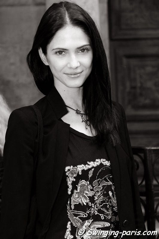 Maria Flávia Ferrari outside Christophe Josse show, Paris Haute Couture F/W 2013 Fashion Week, July 2013