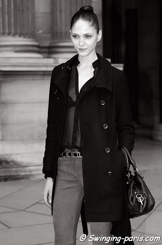 Maria Flvia Ferrari leaving Louis Vuitton show, Paris F/W RtW 2012 Fashion Week, March 2012