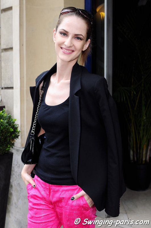 Maria Kashleva (Мария Кашлева) outside Jean Paul Gaultier show, Paris Haute Couture F/W 2013 Fashion Week, July 2013