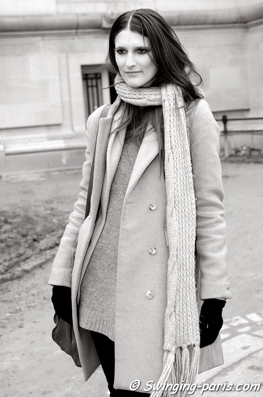 Marie Piovesan after Guy Laroche show, Paris F/W 2013 RtW Fashion Week, March 2013