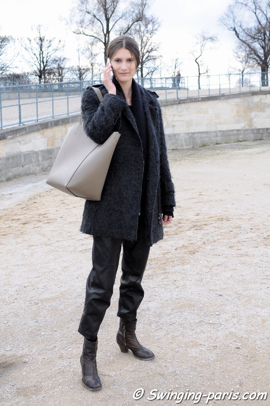 Marie Piovesan after Valentino show, Paris F/W 2014 RtW Fashion Week, March 2014