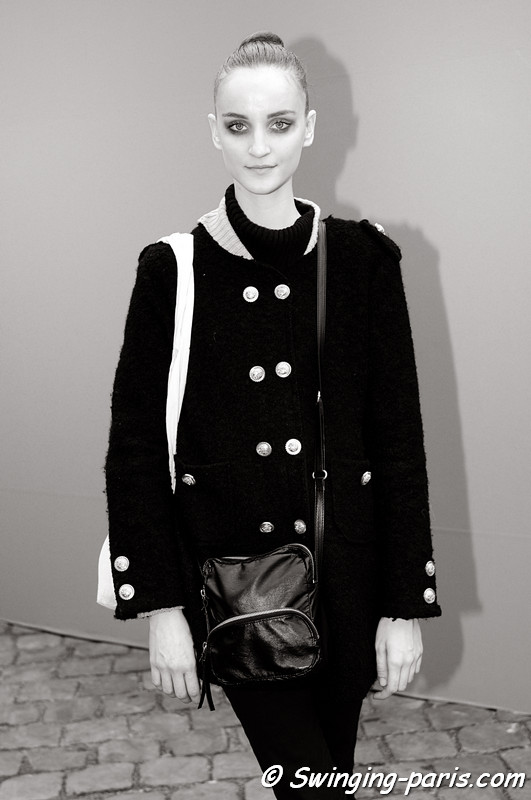 Marina Heiden leaving Louis Vuitton show, Paris F/W RtW 2012 Fashion Week, March 2012