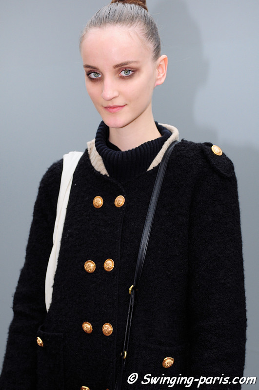 Marina Heiden leaving Louis Vuitton show, Paris F/W RtW 2012 Fashion Week, March 2012