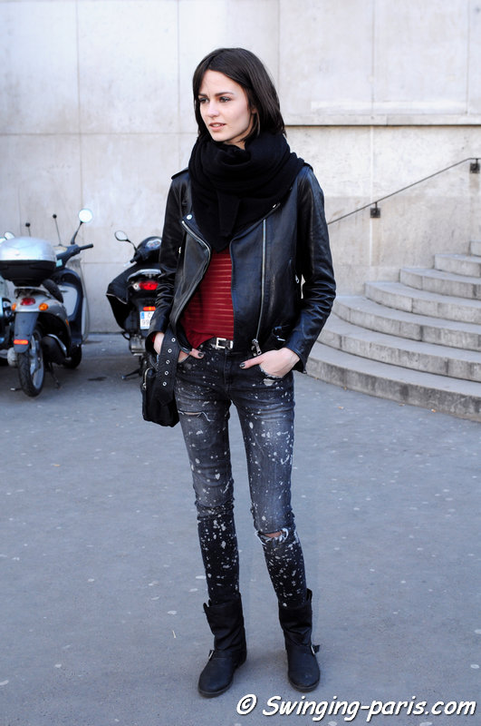 Marta Dyks leaving Zadig & Voltaire show, Paris F/W 2014 RtW Fashion Week, March 2014