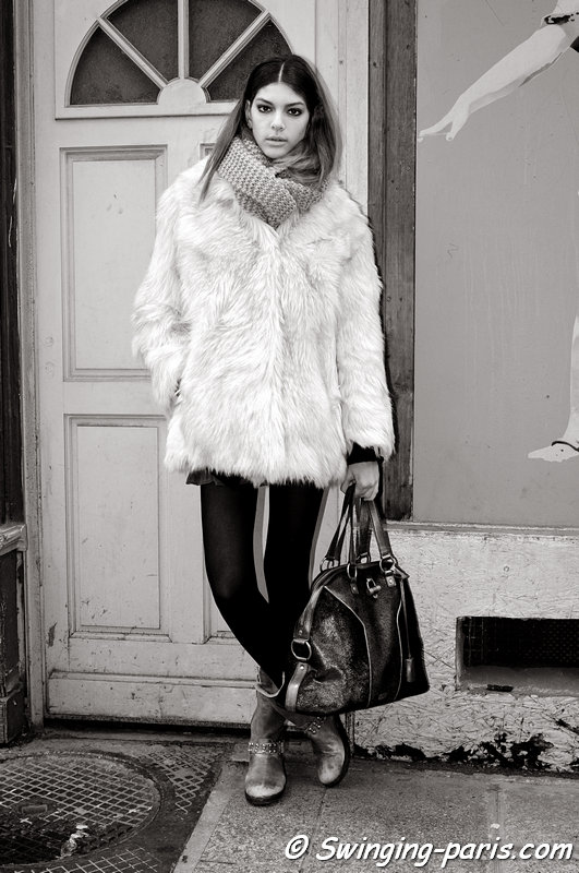 Marta Ortiz outside Devaste show, Paris F/W 2013 RtW Fashion Week, February 2013