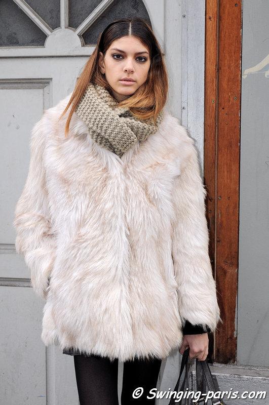 Marta Ortiz outside Devastée show, Paris F/W 2013 RtW Fashion Week, February 2013