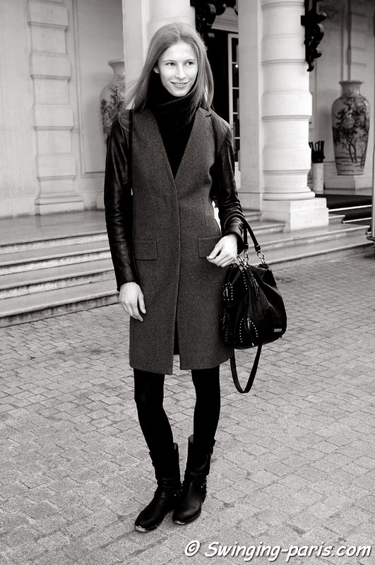 Martyna Budna outside Steffie Christiaens show, Paris F/W 2013 RtW Fashion Week, February 2013