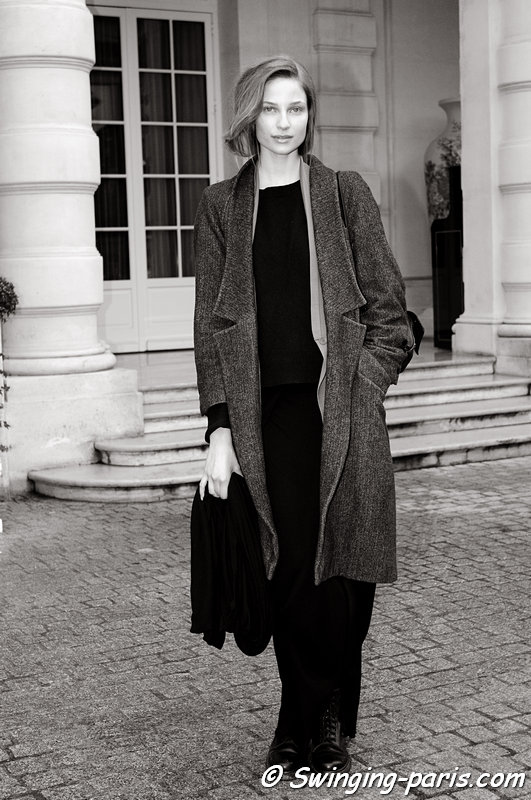 Masha Voronina (Маша Воронина) leaving Didit Hediprasetyo show, Paris Haute Couture S/S 2013 Fashion Week, January 2013