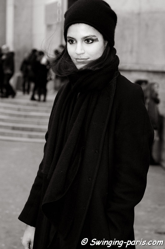 Maud Barrandon leaving Cédric Charlier show, Paris F/W 2013 RtW Fashion Week, February 2013