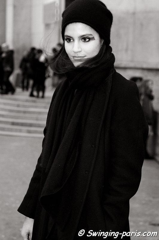 Maud Barrandon leaving Cédric Charlier show, Paris F/W 2013 RtW Fashion Week, February 2013