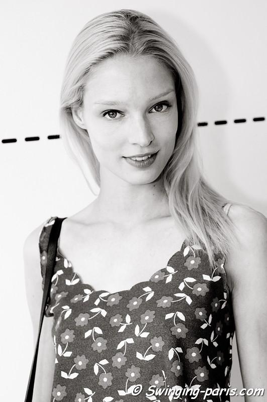 Melissa Tammerijn outside Maxime Simoens show, Paris Haute Couture F/W Fashion Week, July 2011