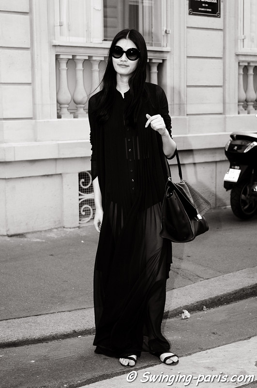 Mengyao Ming Xi outside Christian Dior show, Paris Haute Couture F/W 2012 Fashion Week, July 2012