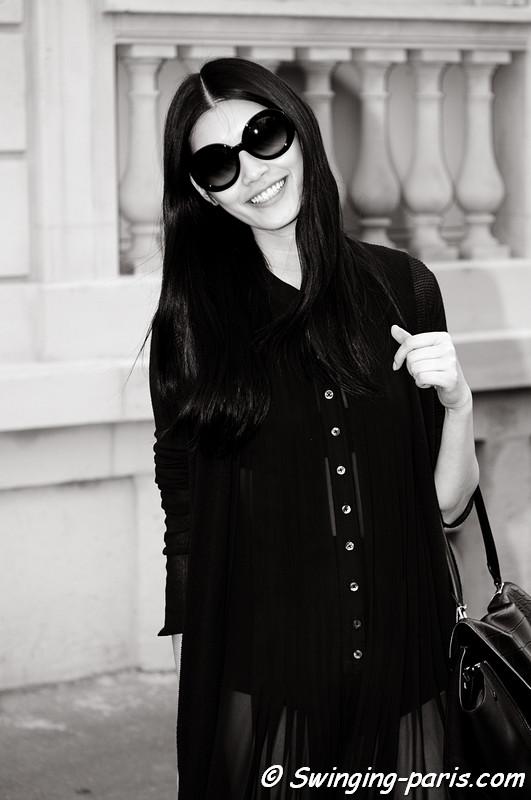 "Mengyao ""Ming"" Xi outside Christian Dior show, Paris Haute Couture F/W 2012 Fashion Week, July 2012"