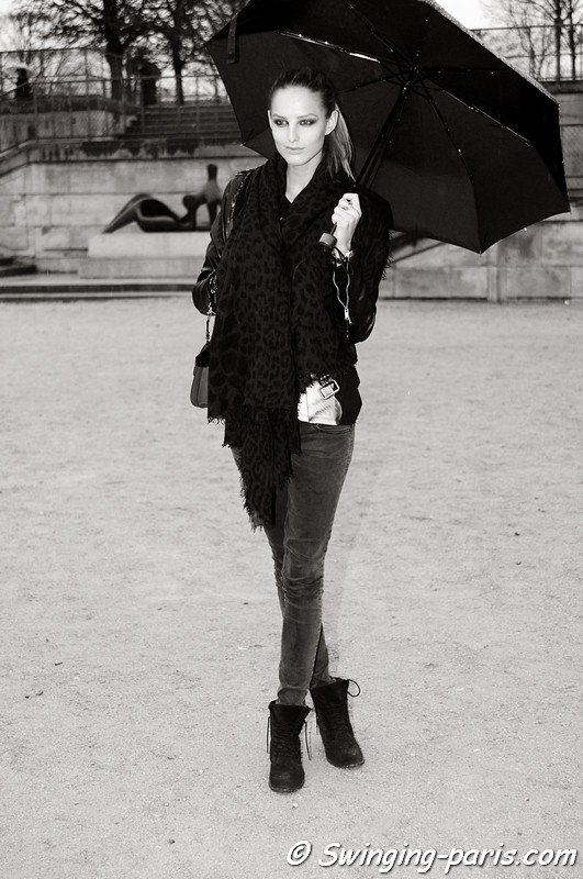 Michaela Kocianova outside John Galliano show, Paris F/W RtW 2012 Fashion Week, March 2012