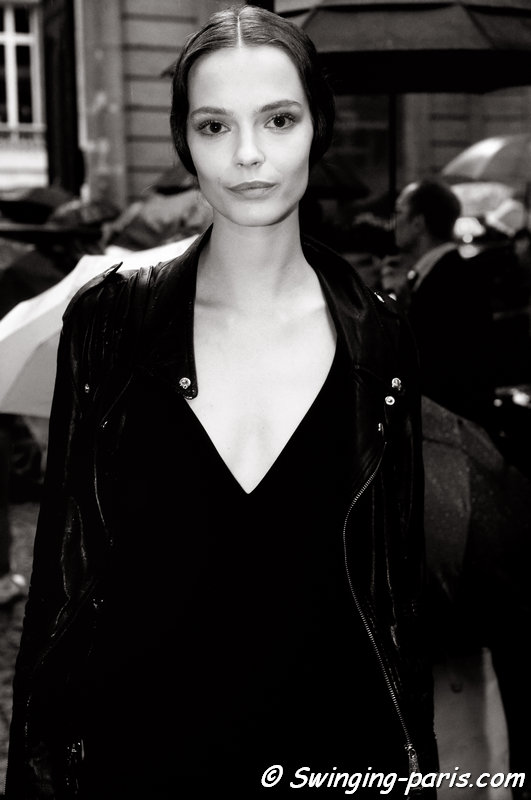 Mina Cvetkovic leaving Valentino show, Paris Haute Couture F/W 2014 Fashion Week, July 2014
