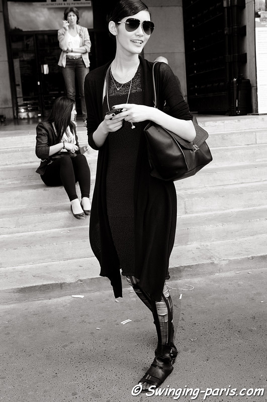 "Mengyao ""Ming"" Xi outside Giorgio Armani Privé show, Paris Haute Couture F/W 2012 Fashion Week, July 2012"