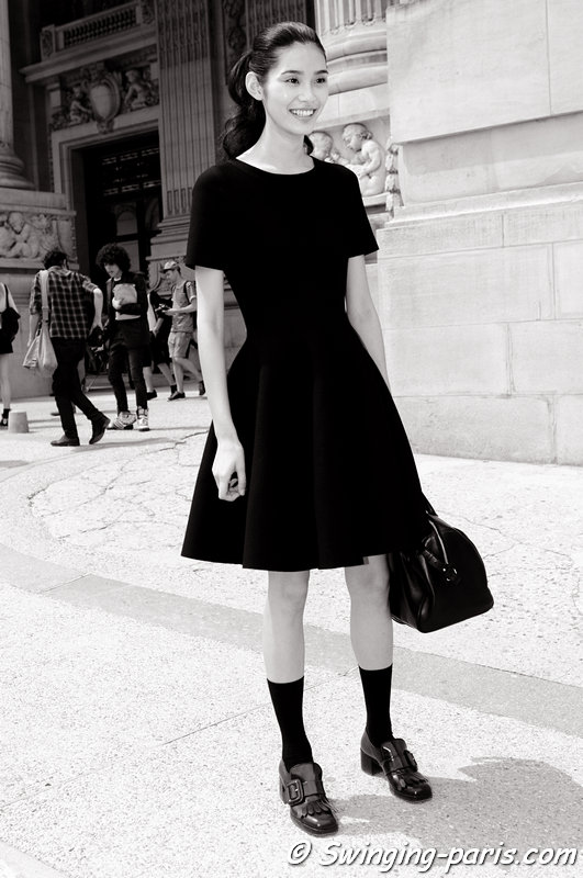 "Mengyao ""Ming"" Xi leaving Chanel show, Paris Haute Couture F/W 2013 Fashion Week, July 2013"