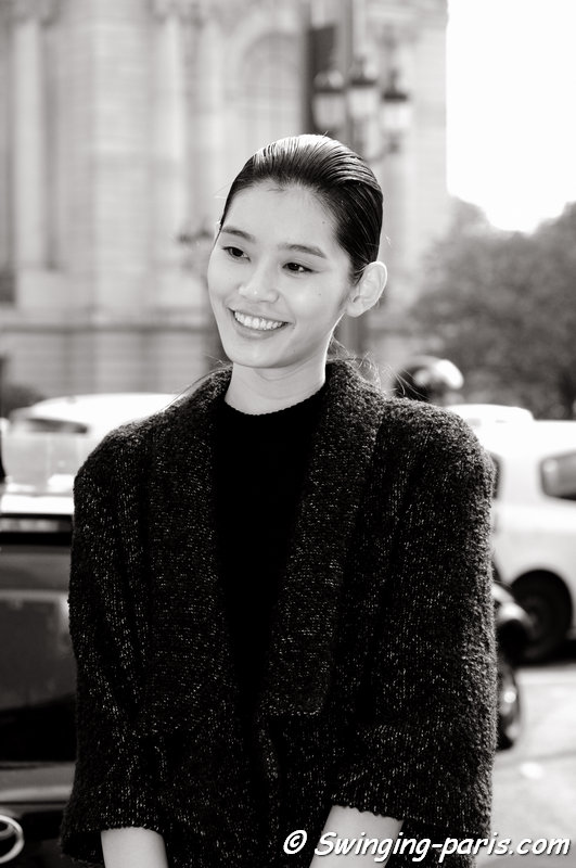 "Mengyao ""Ming"" Xi leaving Guy Laroche show, Paris S/S 2015 RtW Fashion Week, September 2014"