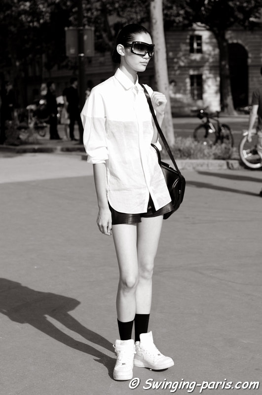 "Mengyao ""Ming"" Xi outside Christian Dior show, Paris Haute Couture F/W 2013 Fashion Week, July 2013"