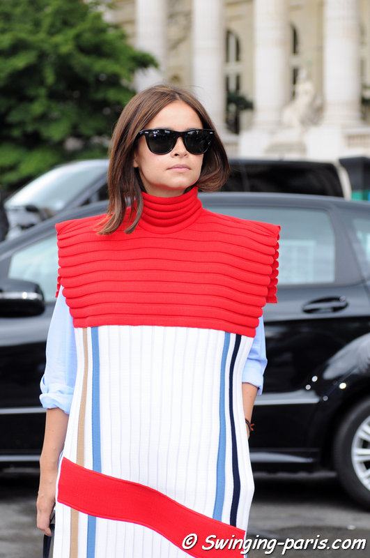 Miroslava Duma outside Chanel show, Paris Haute Couture F/W 2014 Fashion Week, July 2014