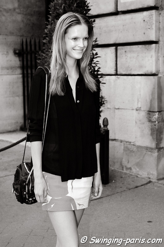 Mirte Maas outside Giambattista Valli show, Paris Haute Couture F/W 2012 Fashion Week, July 2012