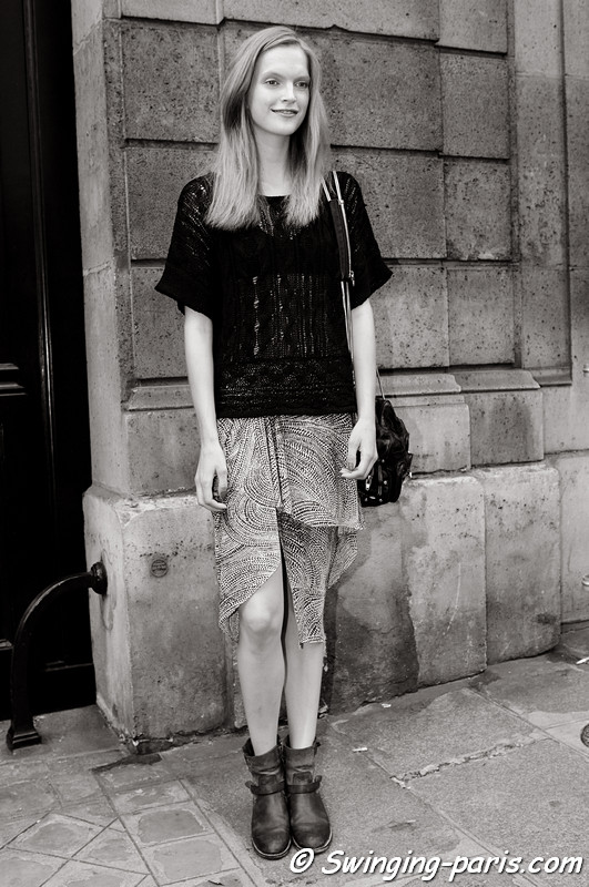 Mirte Maas outside Valentino show, Paris Haute Couture F/W 2012 Fashion Week, July 2012
