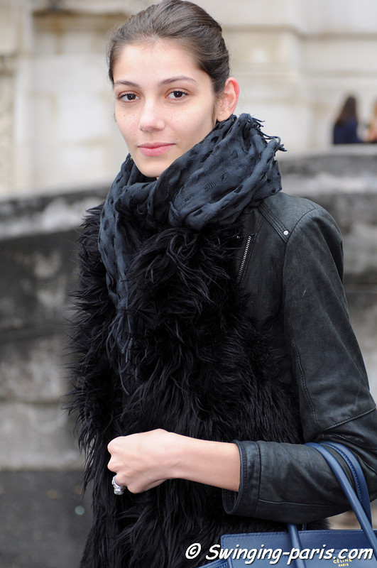 Muriel Beal outside Carven show, Paris S/S 2013 RtW Fashion Week, September 2012