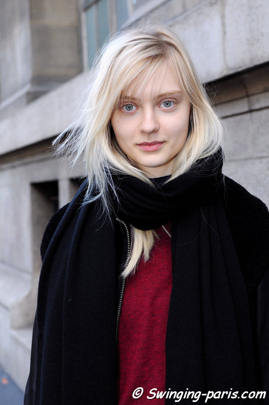 Nastya Kusakina (Настя Кусакина) leaving Moncler Gamme Rouge show, Paris F/W 2014 RtW Fashion Week, March 2014