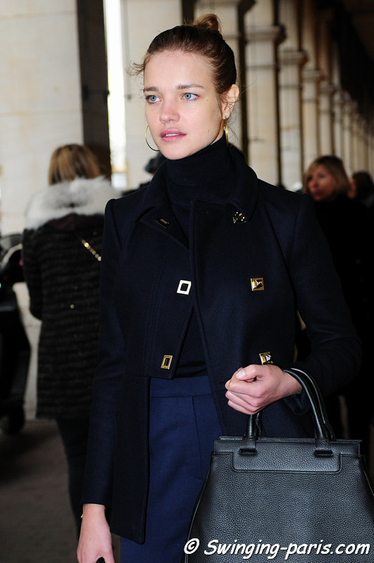 Natalia Vodianova (Наталья Водянова) after Hakaan show, Paris F/W RtW 2012 Fashion Week, March 2012