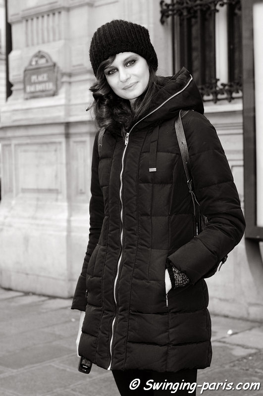 Natalia outside On Aura Tout Vu show, Paris Haute Couture S/S 2013 Fashion Week, January 2013