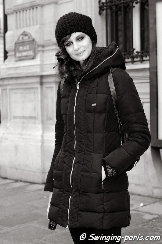 Natalia outside On Aura Tout Vu show, Paris Haute Couture S/S 2013 Fashion Week, January 2013