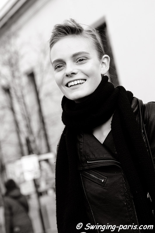Nimuë Smit leaving Rochas show, Paris Fashion Week, March 2011
