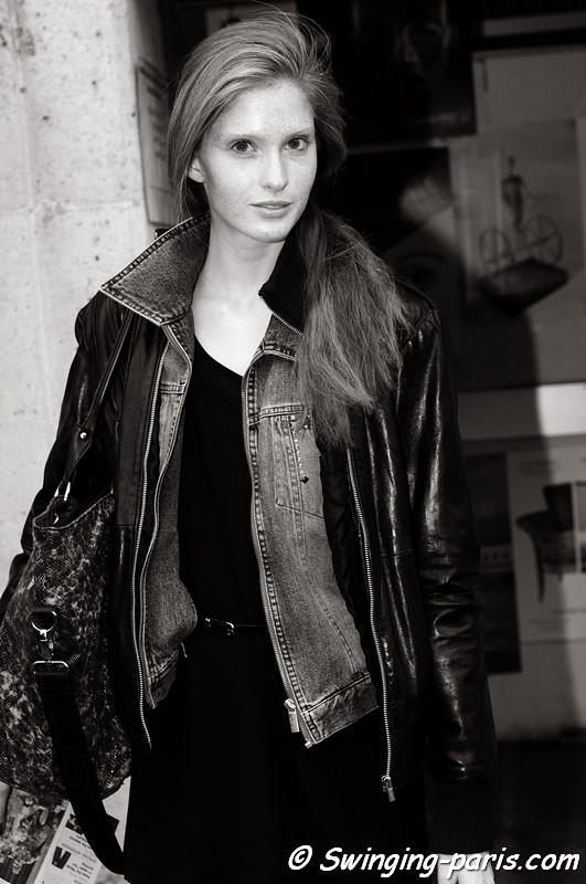 Nina Vodopivec outside Véronique Branquinho show, Paris S/S 2013 RtW Fashion Week, September 2012